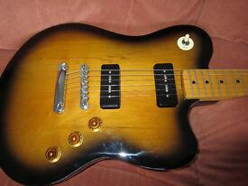 Vester (custom shop?) Electric guitar and Hard Case.