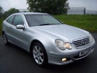 MERCEDES C220 CDI *AUTO* FULL MOT! SPORTS COUPE FULL LEATHER LIKE A3 GOLF ASTRA 320D AUTOMATIC
