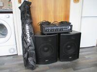 Gear 4 Music 200 Watt PA system.