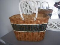 NEW CANE WEAVE BASKET. 17 INCH x 11 INCH X 11 INCH. USEFUL FOR ALL SORTS.