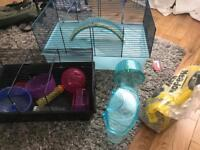 Hamster, Gerbil cage and accessories.