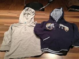 12-18 months hooded tops x 2
