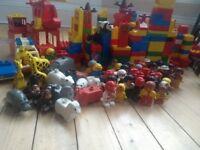 LEGO DUPLO large bundle animals figures vehicles bases