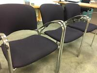 3 Office Visitor Chairs - Excellent Condition