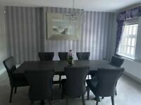 BRAND NEW extendable dining table and 8 chairs