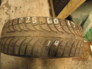 225/60R17 SINGLE ONLY USED GT RADIAL WINTER TIRE