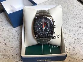 Seiko Sportura kinetic watch