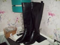 Size 3 Black Leather Boots