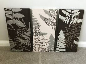 Three Suede Look Canvases