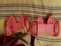 Slip on pink light up skates x2 both £5