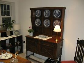 Oak Dresser / Sideboard - compact, very attractive, base has 2 drawers & 2 cupboards...