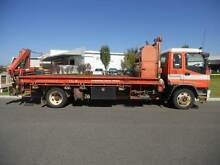 Isuzu FSR 750 long Waste disposal tray-top truck with rear crane Welshpool Canning Area Preview