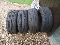 2 Pairs of wheels & Tyres for VW Golf good condition