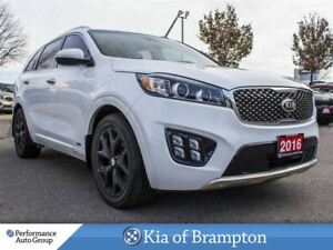 2016 Kia Sorento 3.3L SX+. 7-PASS. RMT START. LEATHER. CAMERA. N