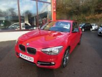 BMW 1 SERIES 116D SPORT (red) 2014