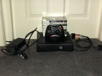 Xbox 360 with remote and 9 games *immaculate condition*