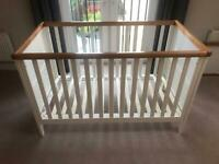 Cot Bed with Changing Table - Mothercare Summer Oak