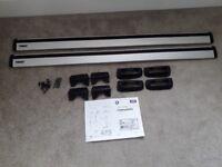 Thule Aluminium 118cm Wings Bars no. 961 & adapter kit (roof bars)