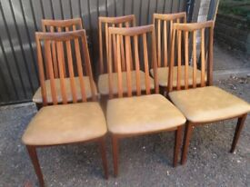 6 G PLAN 1970'S TEAK DINING CHAIRS