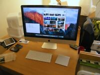 iMac, 27 inch, 8GB RAM, 1TB hard drive