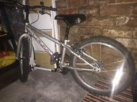 Silver bike for 8 years and over