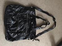 Large soft shoulder bag