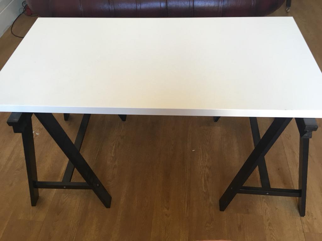Lovely Ikea desk with trestle legs | in Clifton, Bristol | Gumtree UR65