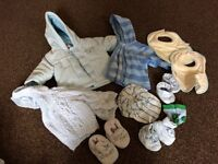 Bundle of new baby boy clothes