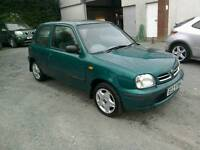 00 Nissan Micra 1.0 3 Door 73000 mls 2 keys clean car great driver ( can be viewed inside anytime)