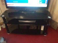 Black two shelf TV Stand