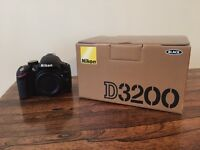 Nikon D3200 SLR Digital Camera (body only), Fully Boxed, Almost New (shutter count < 150)