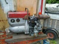 Stationary engine with generator