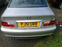 BMW 3 SERIES E46 COUPE BOOTLID inc HANDLE AND BOOT LIP SPOILER - TITAN SILVER