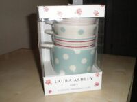 Laura Ashley ceramic measuring cups - never been used