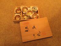 Japanese sake 7 cup set