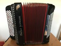 Paulo Soprani, 4 Voice, Musette Tuned, 5 Row C System, 120 Bass, Chromatic Button Accordion