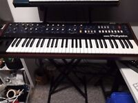 Korg Polysix Analogue Synthesizer. Excellent condition; serviced/battery replaced, midi retrofit.