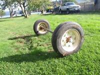 Trailer Axel and Wheels