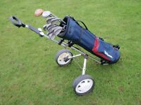 Golf Bag,Clubs & Trolley.