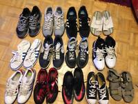 12 pairs of boys trainers/sandals £20 for the lot.