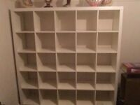 Ikea kallex shelving bookcase 16 squares white
