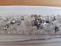 Mori Lee Beaded Belt only from style 1901 Ivory - Reduced! - £50 ono