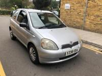 TOYOTA YARIS 1.3 VVTi CDX AUTOMATIC HPI CLEAR LOW MILES 2001 NEW MOT WITH MOT HISTROY LOW MILES