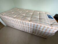 Single bed used once spare room silent night miracoil