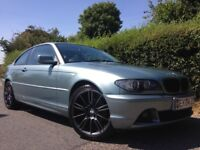 BMW E46 COUPE (FACELIFT). LOW MILAGE FULL SERVICE HISTORY MV3 ALLOYS BOOK PACK WITH MANULS 2x KEYS