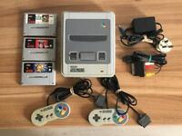 SNES SUPER NINTENDO GAMES CONSOLE BUNDLE