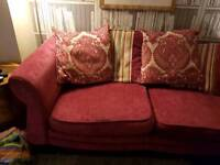 DfS sofa and armchair in pink