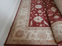 Afghan Ziegler Rug. Large. 3180 cm x 4500 cm. Immaculate Red, Beige, Gold