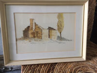original signed watercolour by Anne D,arcy
