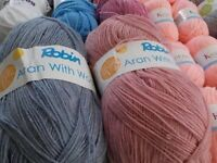 LARGE SELECTION OF WOOL VARIOUS BRANDS